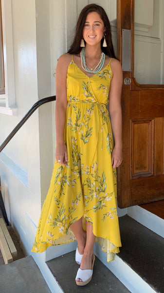 Molly Blossom Maxi Dress Lemon