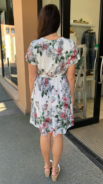 Zoey Floral Dress Off White