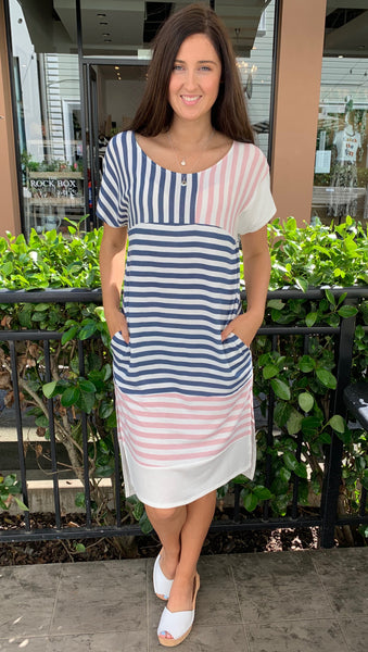 Marley Mixed Stripe Midi Dress