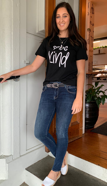 Be Kind Tee Black