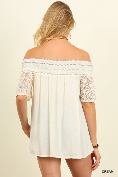 Bahamas Off The Shoulder Lace Top