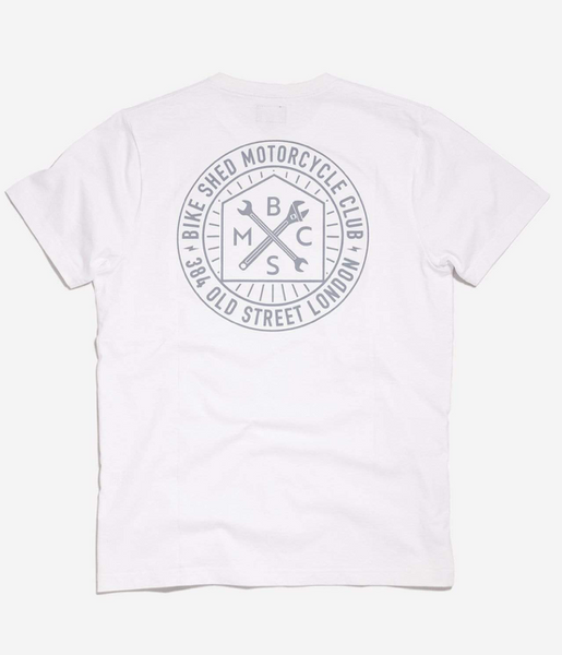 The Bike Shed Roundel Tee White