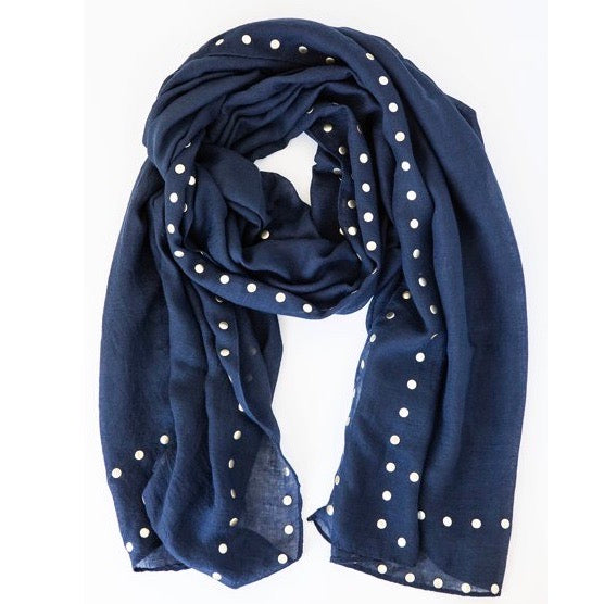 Antler NZ Navy Studded Scarf