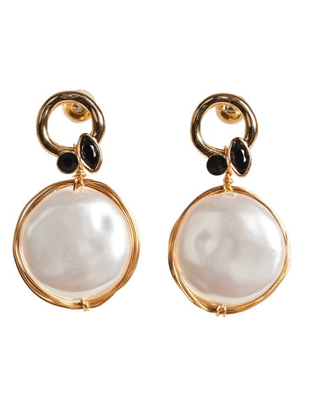 Luxe Drop Earrings Pearl Droplet