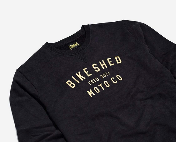 Moto Co Sweat Black Gold