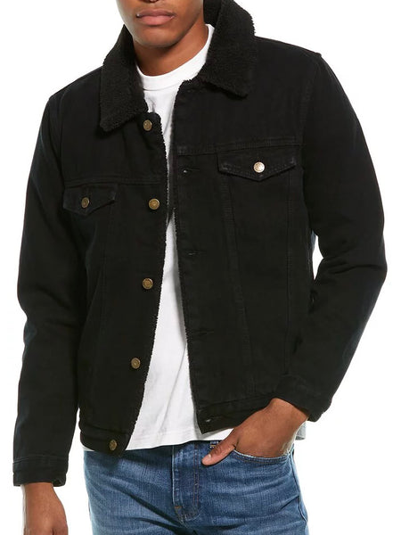 Rolla's Denim Sherpa Black jacket