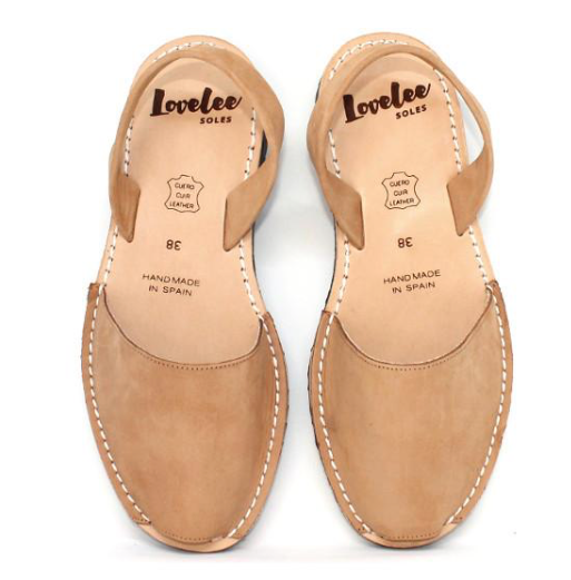 Lovelee Tan Nubuck Sandals