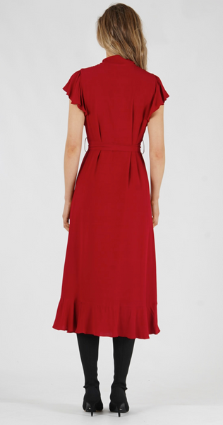 Amelius Prosecco Dress Raspberry Red