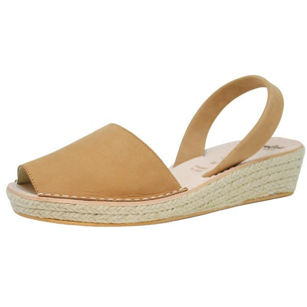 Lovelee Tan Mini Rope Wedge
