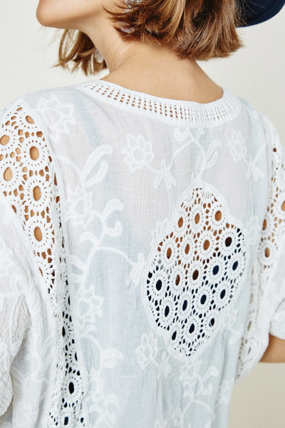 Lace Bolero Cardigan Off White