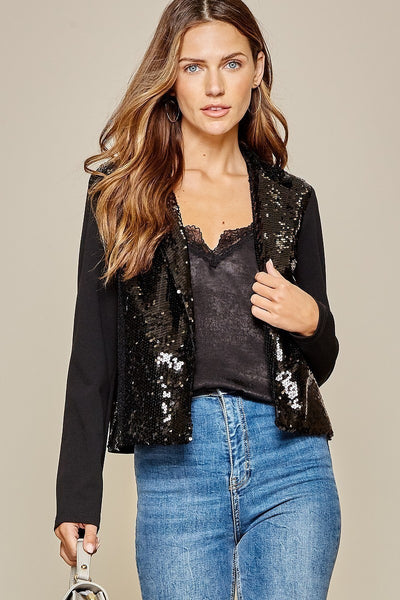 Celebration Sequin Jacket Black