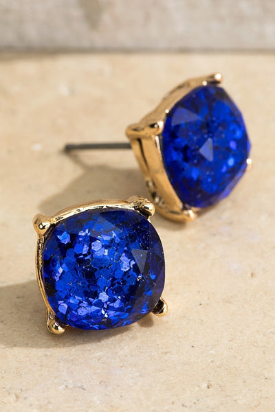 UBS024 Glitter Studs Royal Blue