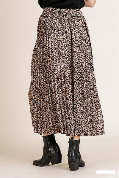 Meow Pleated Midi Skirt
