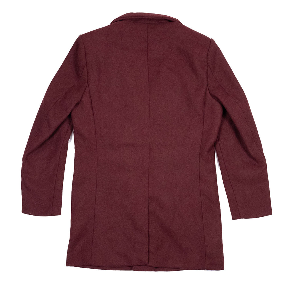 The Bellevue Topcoat Maroon