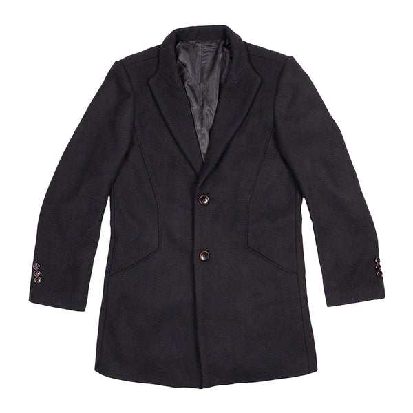 The Bellevue Topcoat Black