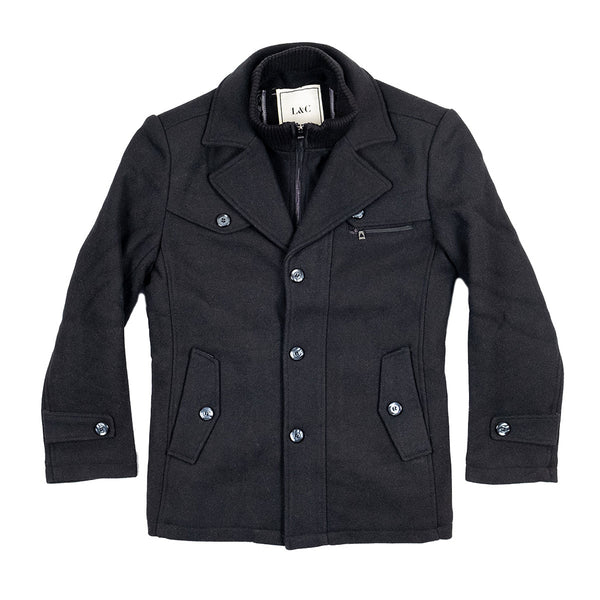 The Ellis Peak Quilted Short Trench Black