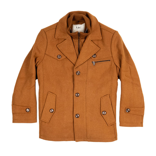 The Ellis Peak Quilted Short Trench Camel