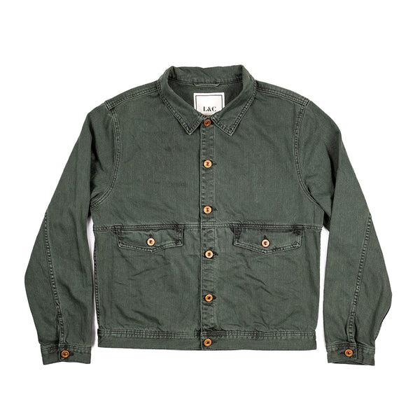 The Vagabond Denim Jacket in Forest