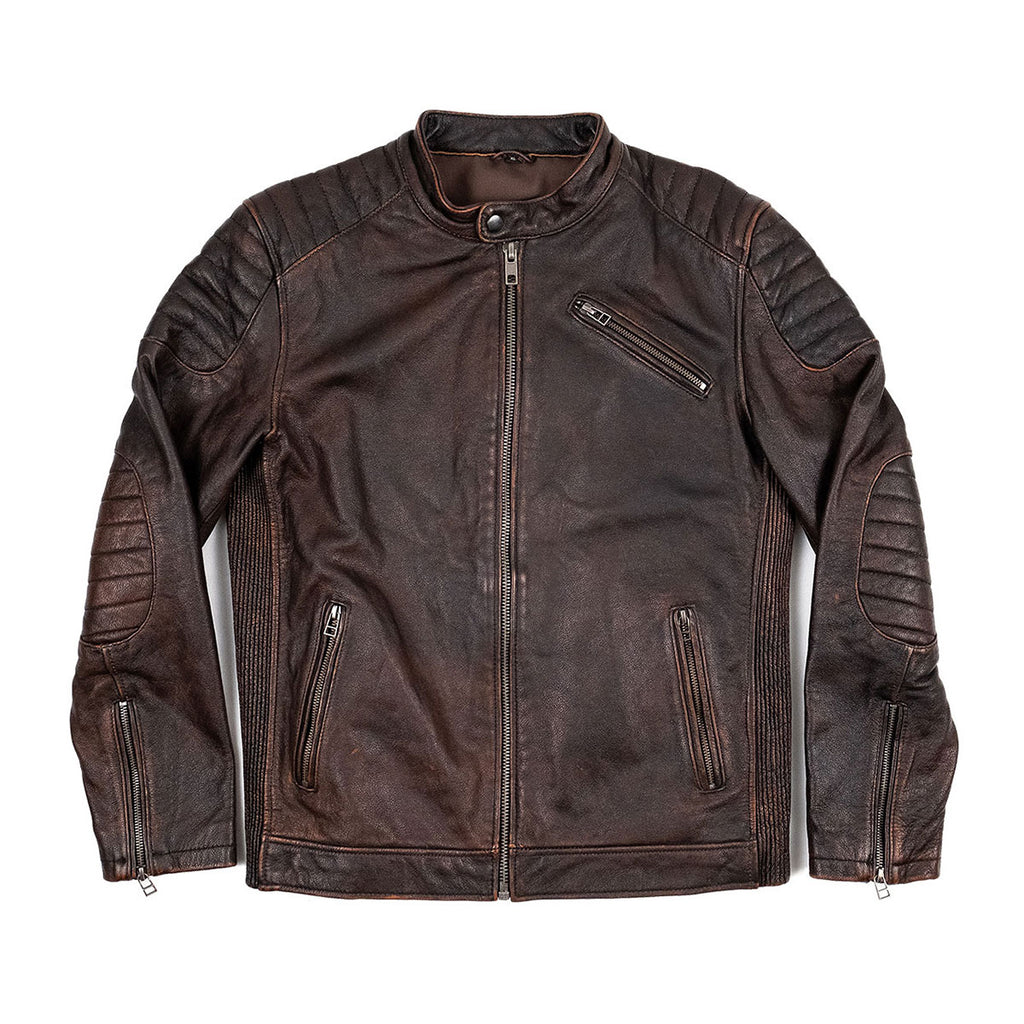 The Vincent Jacket in Brown Leather