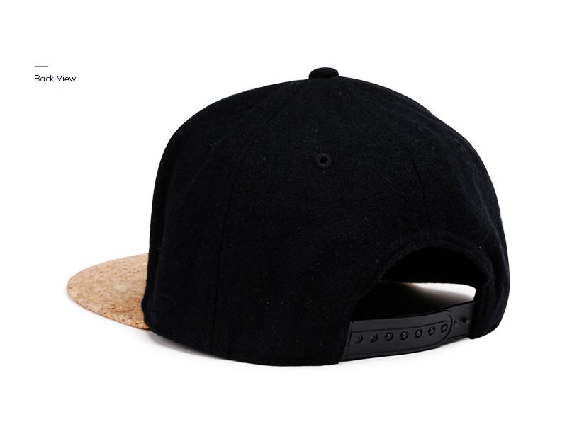 Accessories - Cork Brim Snapback Hat Black