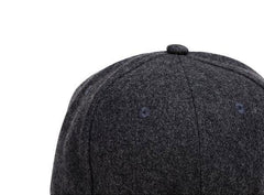 Accessories - Cork Brim Snapback Hat Dark Gray