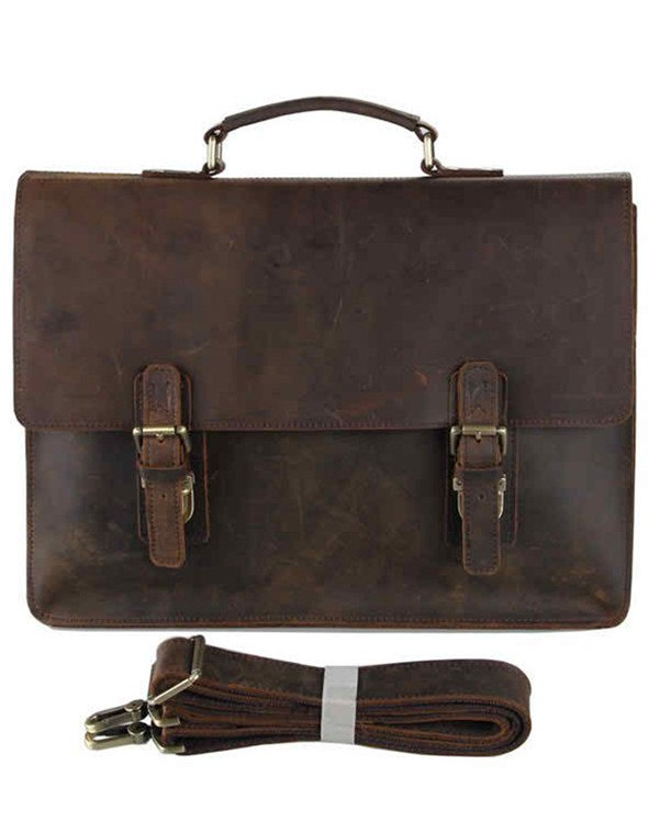 Bags - Brown Leather Brief Bag