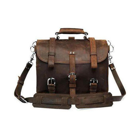 Bags - Brown Leather Travel Bag/Backpack