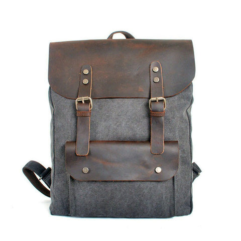 Bags - Canvas & Leather Backback