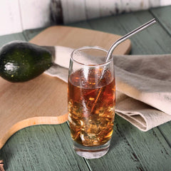 Barware - 6pc Stainless Steel Drinking Straw Set