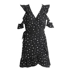 Dresses - Chiffon Polkadot Dress