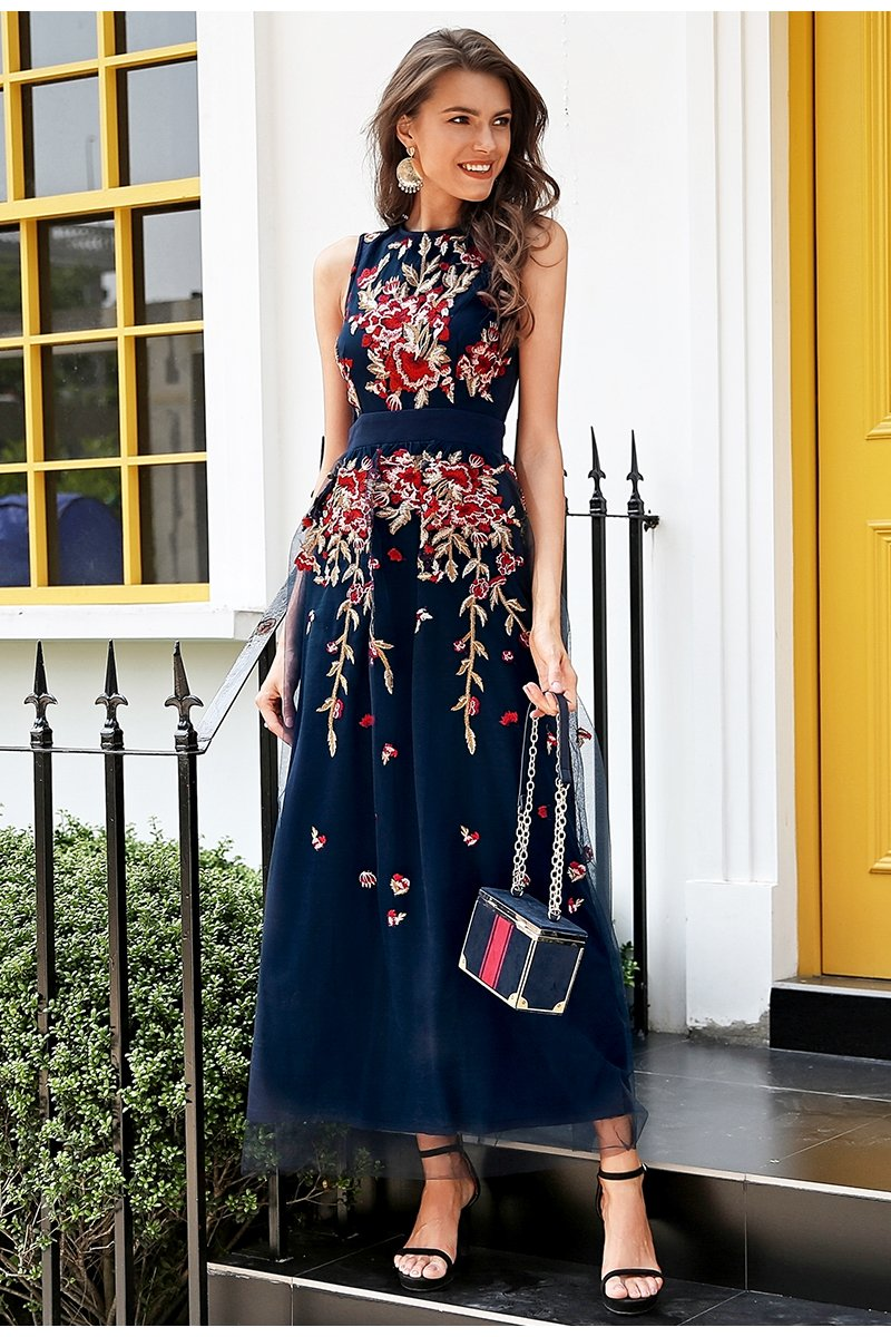 Dresses - Embroidered Party Dress