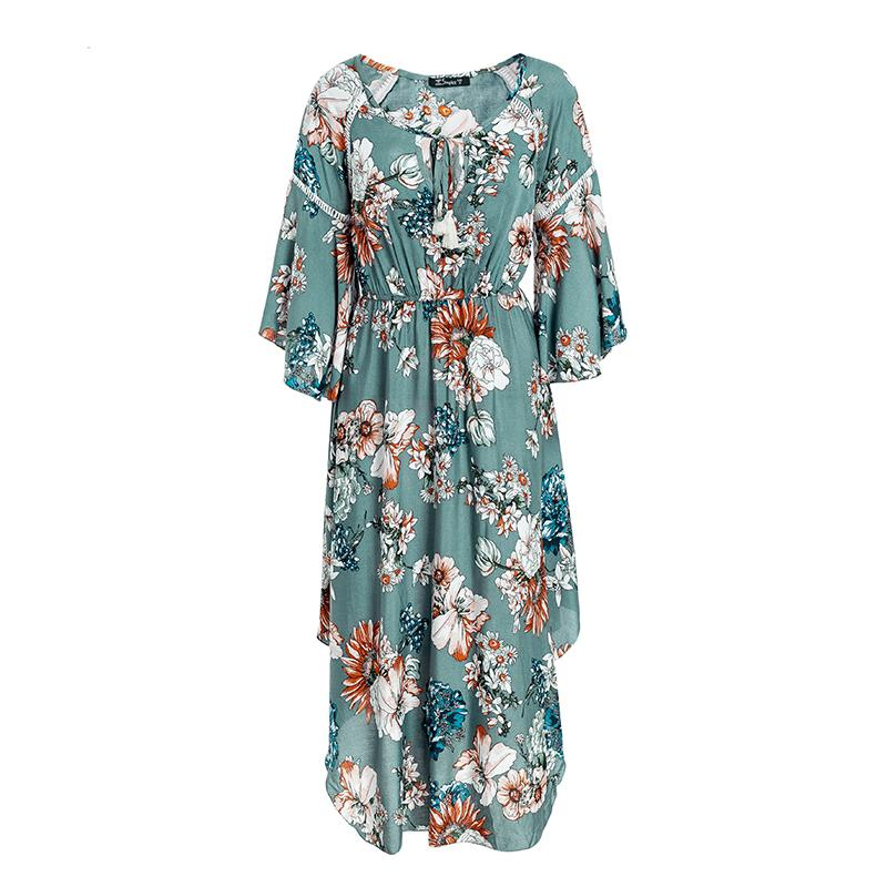 Dresses - Long Floral Boho Dress