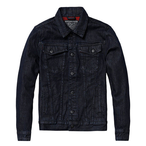Jackets - Black On Red Denim Jacket