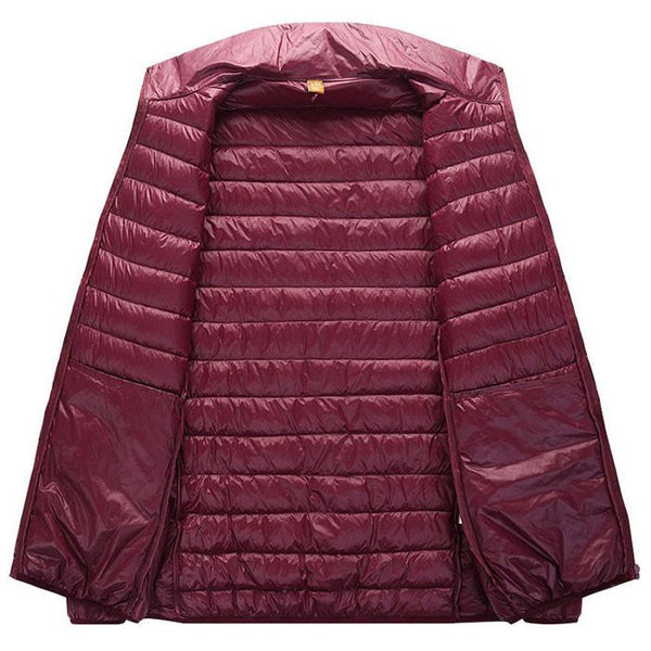 Outerwear - Classic Puffer Jacket Berry