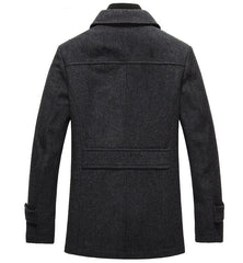 Outerwear - The Ellis Peak Quilted Short Trench Charcoal