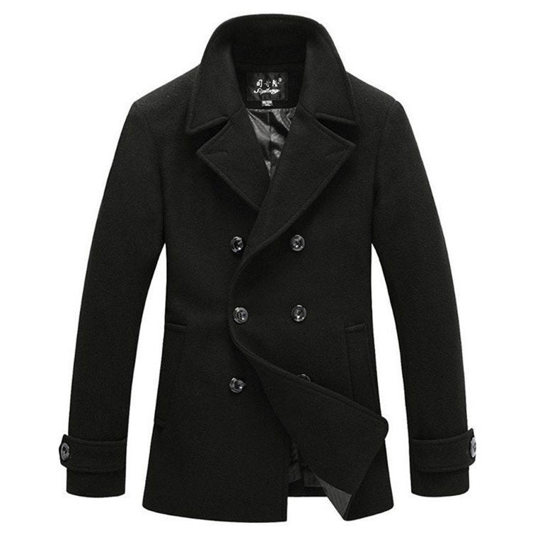 Outerwear - The Foster Wool Peacoat Black