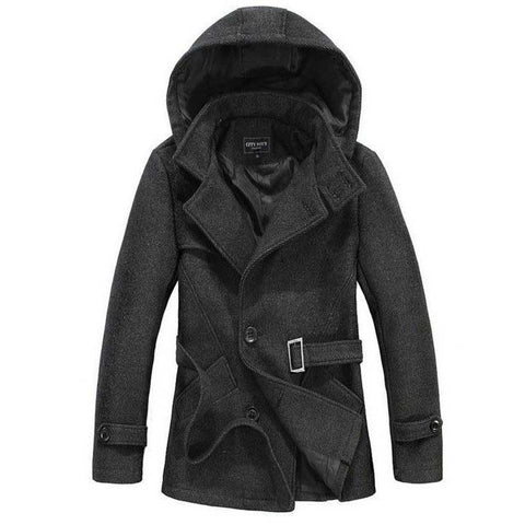Outerwear - The Reed Hooded Short Trench Charcoal