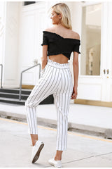 Striped Capri Pants