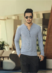 Textured Henley Grey
