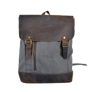 Canvas & Leather Backpack