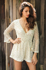 Rompers - Gold Sequin Romper