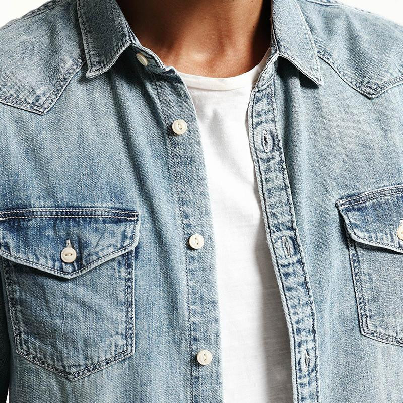 Shirts - Western Denim Shirt