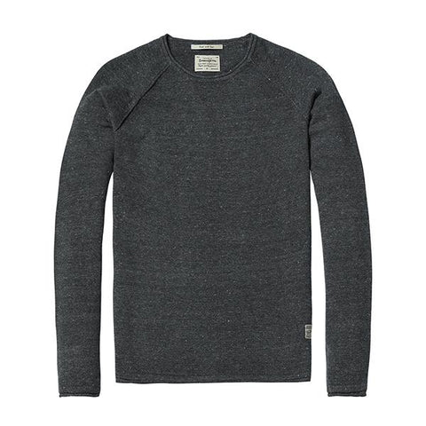 Sweaters & Cardigans - Crew Neck Sweater Charcoal
