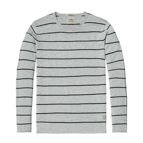 Sweaters & Cardigans - Striped Crew Neck Sweater