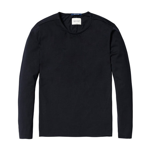 T-Shirts - Basic Long Sleeve Tee Black