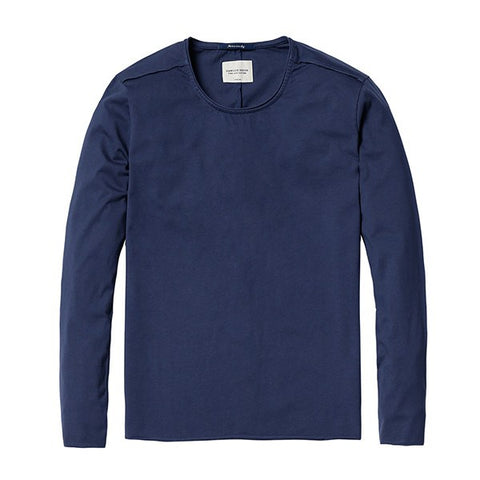 T-Shirts - Basic Long Sleeve Tee Navy
