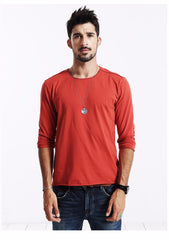 T-Shirts - Basic Long Sleeve Tee Orange