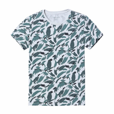 T-Shirts - Blue-Scale Painted Tee