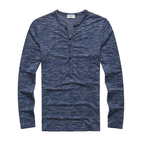 T-Shirts - Heathered Henley Blue