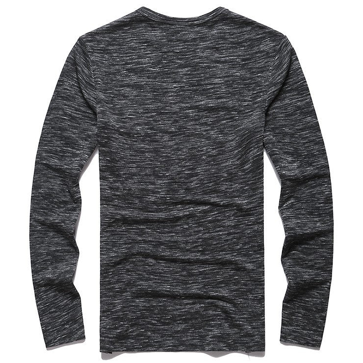 T-Shirts - Heathered Henley Charcoal